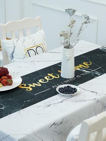 【Z633061】(大)大理石紋系列多色餐桌巾/桌墊/餐墊/桌布-Joyful
