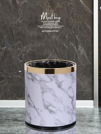 【Z632068】雙層防火大理石紋垃圾桶/收納桶/置物桶-Joyful