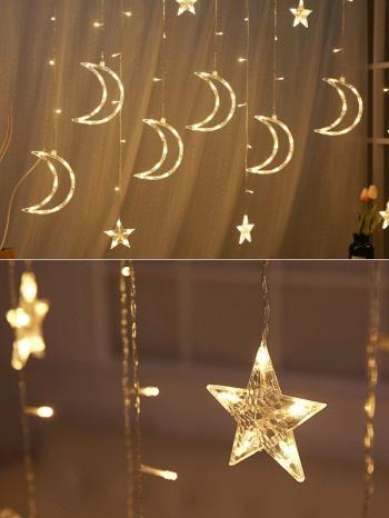 【Z633067】浪漫星星月亮垂墜式串燈/LED燈/夜燈/燈飾-Joyful