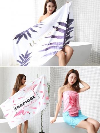 【Z633068】北歐風新款雨林圖樣浴巾/長巾/毛巾/沙灘巾-Joyful