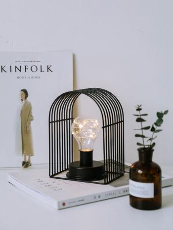 【Z633076】質感鐵藝簡約造型LED燈泡夜燈/床頭燈-Brightfuture