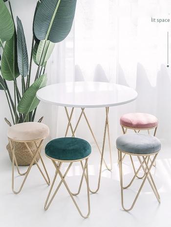 【Z633086】奢華質感純色絨布單人椅/餐椅/椅子/化妝椅-Soft