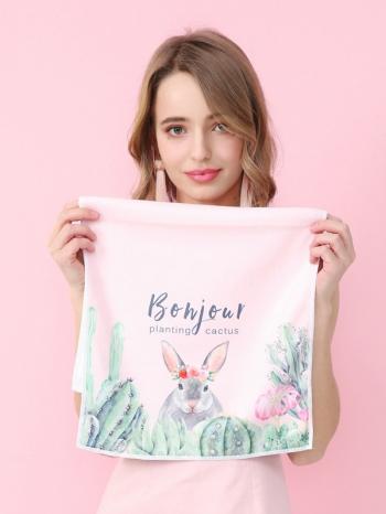 【Z633088】Bonjour清新畫風原創設計居家毛巾/洗臉巾/擦手巾/長巾-Soft