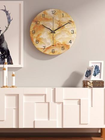 【Z633090】歐式仿大理石紋牆上掛鐘/時鐘/壁鐘-Soft