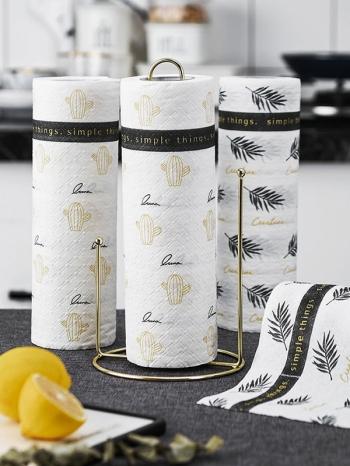 【Z633093】北歐風清新圖樣廚房用加厚吸油餐紙巾-Soft
