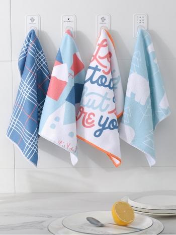 【Z633094】歐風設計清新圖樣4入抹布組/毛巾布/洗碗巾-Soft