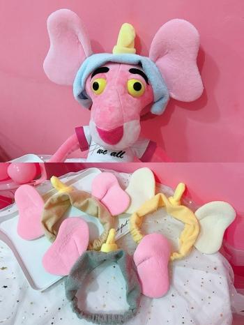 【Z635024】韓風可愛小飛象耳朵造型洗臉束髮帶/髮箍-Soft