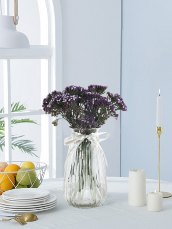 【Z633099】(小)歐式宮廷風條紋透明玻璃花瓶/花器-Soft