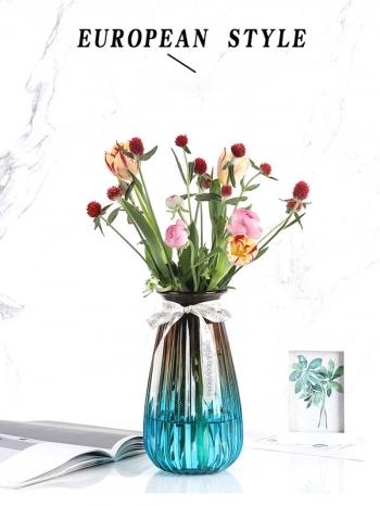 【Z633100】(中)歐式宮廷風條紋透明玻璃花瓶/花器-Soft