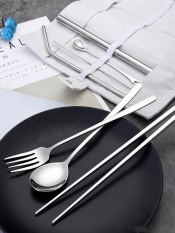 【Z638086】簡約不鏽鋼便攜設計環保餐具8件組-infinite