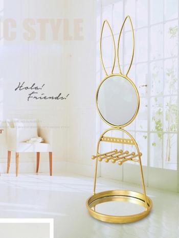 【Z632117】兔子造型創意可拆裝鐵藝收納架/飾品架/首飾架-infinite