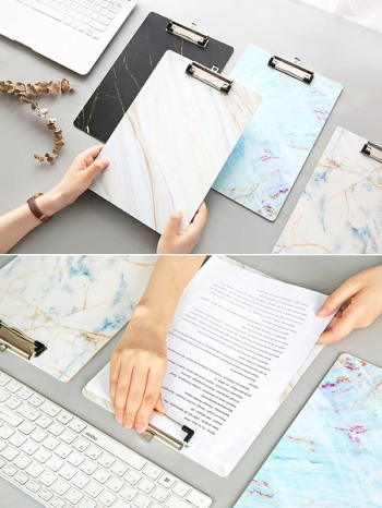 【Z636043】大理石紋系列A4文件板夾/書寫板/圖畫墊板-infinite