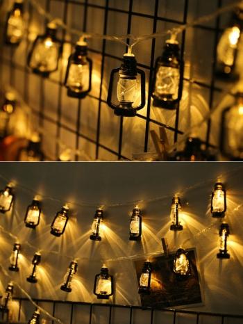 【Z633114】(小)煤油燈造型LED串燈/夜燈-infinite