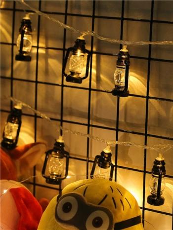 【Z633115】(大)煤油燈造型LED串燈/夜燈-infinite