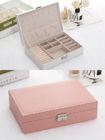 【Z632125】(單層)簡約質感多功能大容量飾品收納盒/珠寶盒/飾品盒/首飾盒-infinite