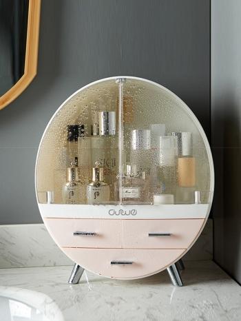 【Z632135】(三層)精緻圓型化妝品收納櫃/收納盒/置物櫃-infinite