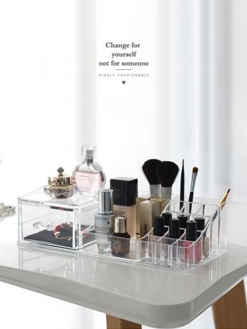 【Z632147】多格透明壓克力口紅化妝品收納盒/置物盒/收納抽屜/刷具盒-refreshing