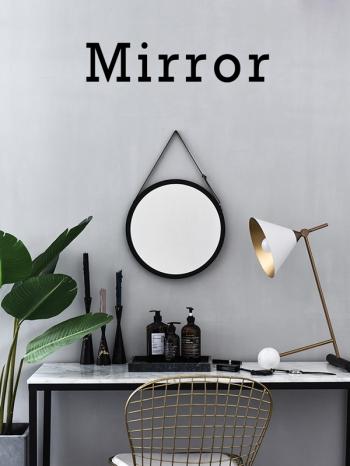 【Z635033】北歐風簡約圓形大面積浴室掛鏡/化妝鏡/鏡子-refreshing