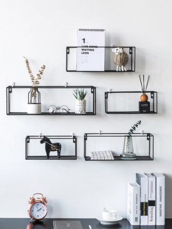 【Z632155】(大)創意鏤空鐵藝造型牆面置物架/掛件/牆壁裝飾-refreshing