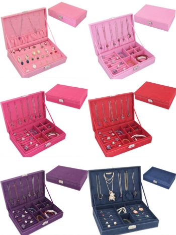 【Z632157】多色造型絨布飾品收納盒/戒指/項鍊/耳環/珠寶盒-refreshing