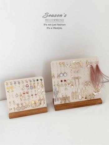 【Z632180】(大)韓風飾品實木道具耳針展示架/耳環架-value