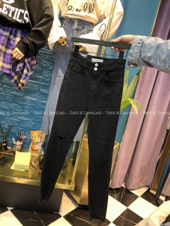 【Z921008】顯瘦彈力窄管褲