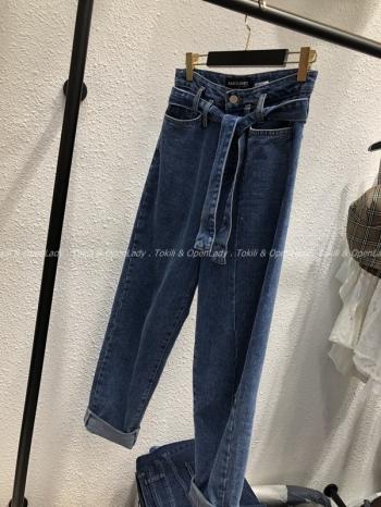 【Z921080】高腰綁帶反摺褲