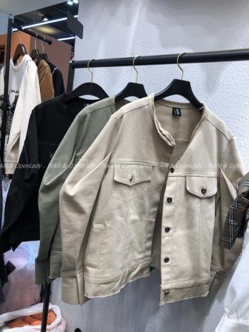 【Z921081】不規則邊線造型短版外套