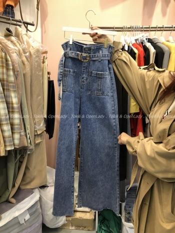 【Z921087】高腰腰帶造型寬褲