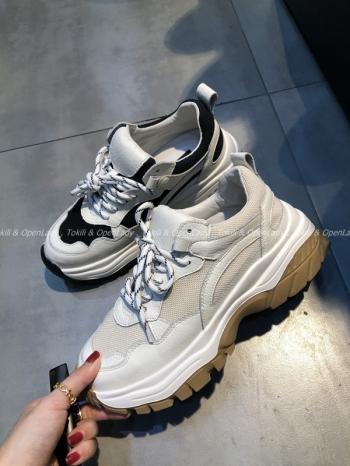 【Z921121】皮質拼接老爹鞋