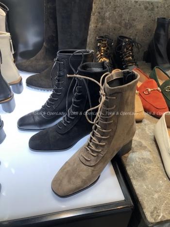 【Z921131】麂皮綁帶中筒靴