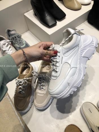 【Z921134】麂皮拼接老爹鞋