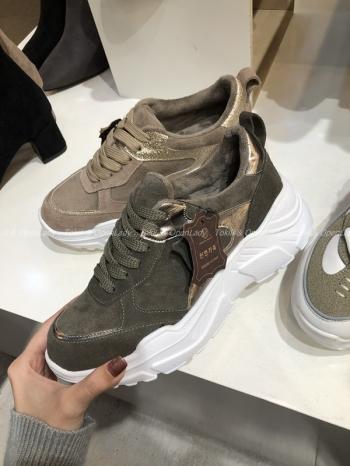 【Z921257】麂皮金蔥拼接老爹鞋