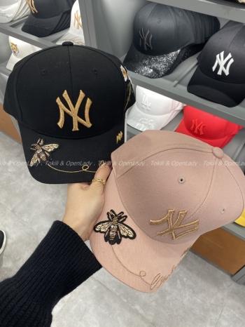 【Z921337】MLB蜜蜂刺繡老帽