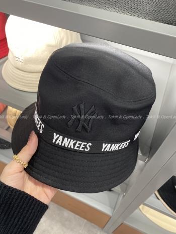 【Z921339】MLB素色英文字漁夫帽