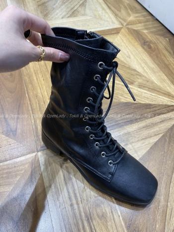 【Z921324】(大人款)皮革軍靴