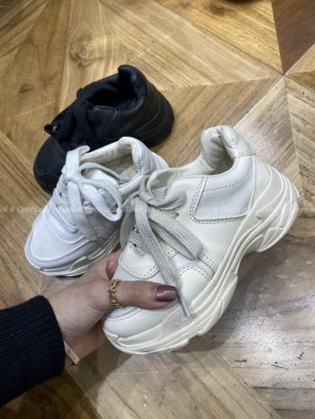 【Z921327】(童款)皮革寬帶老爹鞋