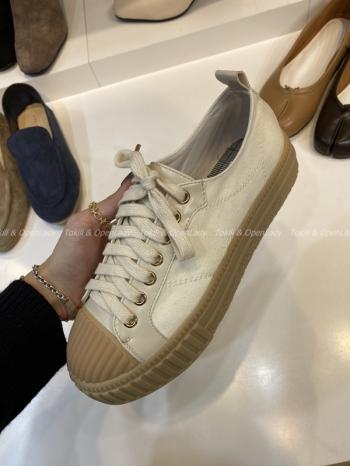 【Z921331】白色帆布餅乾鞋