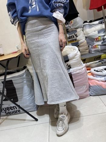 【Z921320】A字線條修身長裙