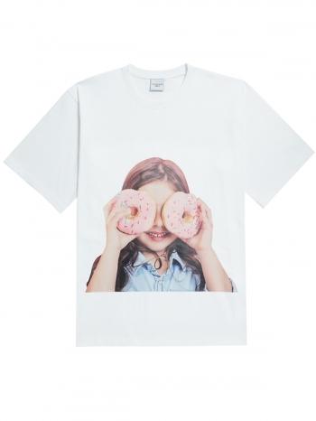 【Z921388】ADLV甜甜圈女孩短T