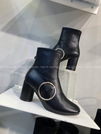 【Z921484】金屬圓環短靴