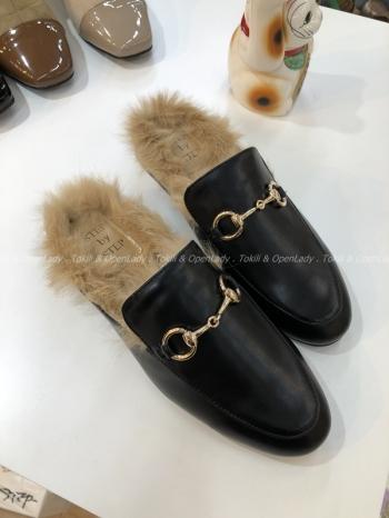 【Z921497】加絨保暖豆豆鞋