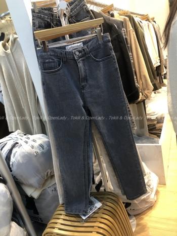 【Z921451】刷舊灰色鉛筆褲