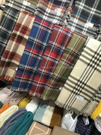 【Z921538】經典格紋圍巾