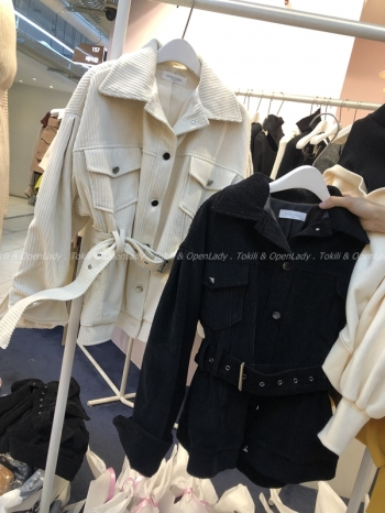 【Z921541】燈芯絨厚挺夾克