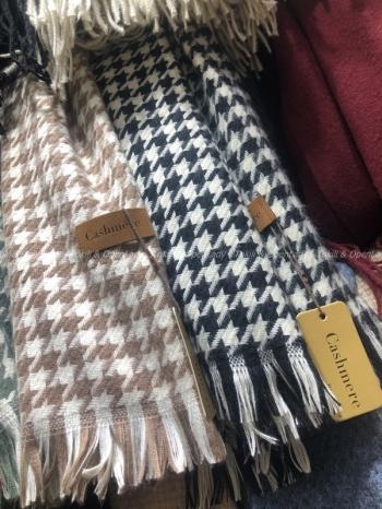 【Z821109】千鳥格紋圍巾