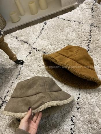 【Z821123】絨羊羔毛漁夫帽