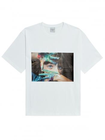 【Z921664】ADLV油漆女孩短T