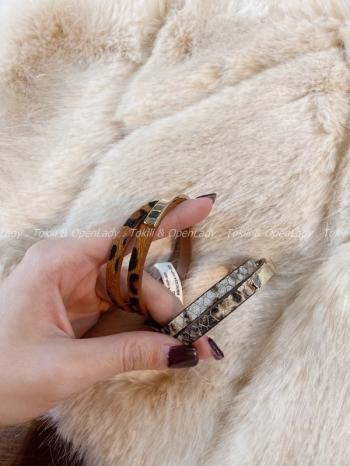 【Z921688】皮紋皮環手環