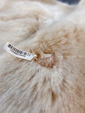 【Z921703】皇冠戒指 可調 純銀鍍玫瑰金
